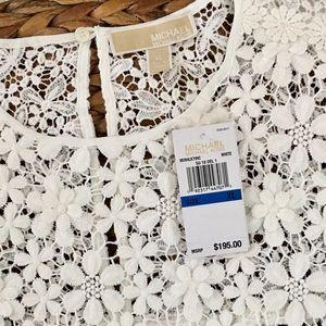 NWT/ Michael Kors / XL / Floral Lace Shirt